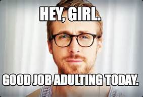 adulting meme